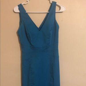 bebe Dresses - Bebe blue/turquoise unique elegant dress